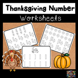 Thanksgiving Number Handwriting