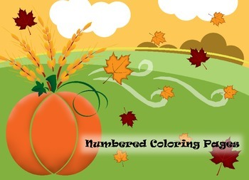 Thanksgiving Numbered Coloring Page