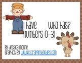Thanksgiving Numbers 0-31 Games