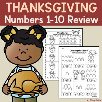 Thanksgiving Math: Numbers 1-10 (Kindergarten)