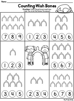 Thanksgiving Math: Numbers 1-10 (Kindergarten, Thanksgiving Activities)