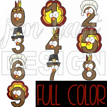 Numbers Clipart Thanksgiving  -NumberTURKEY
