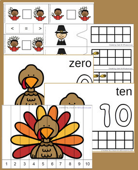 Thanksgiving Numbers Set: 0 to 10