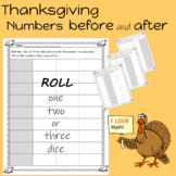 Thanksgiving Numbers That Come Before and After Worksheets