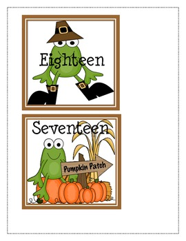 Thanksgiving Numbers and Number Word Matching
