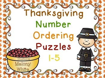 Thanksgiving Number Ordering Puzzles 1-5