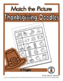 Thanksgiving Object Matching - Print, Answer & Color Works