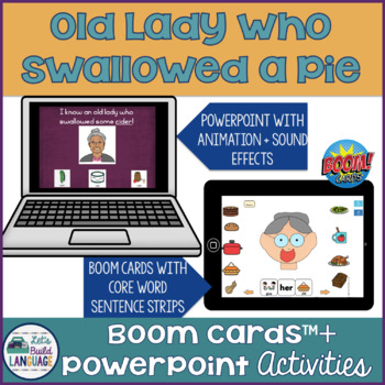Old Lady Who Swallowed a Pie- Interactive Language Activity