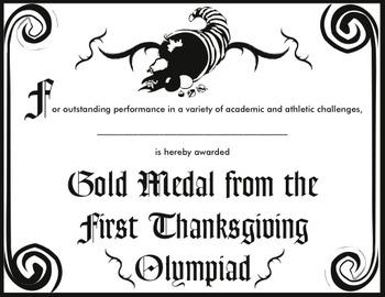 Thanksgiving Olympiad Activity