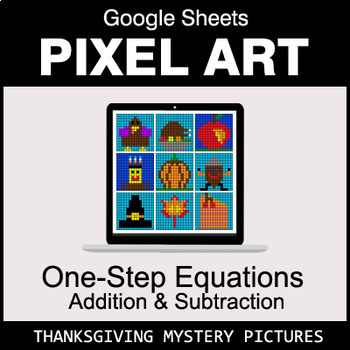 Thanksgiving - One-Step Equations - Addition & Subtraction - Google Sheets