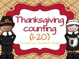 Thanksgiving Counting 1-20 {One-To-One Correspondence}