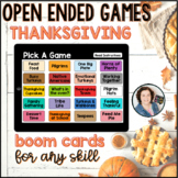 Thanksgiving Open Ended Games for ANY skill   Boom Cards™
