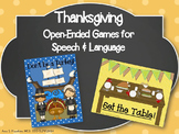 Thanksgiving Open-Ended Games for Speech and Language
