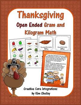 Thanksgiving Open Ended Gram and Kilogram Math