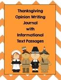 Thanksgiving Opinion Writing Journal