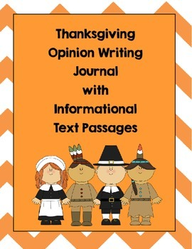 Thanksgiving Opinion Writing Journal