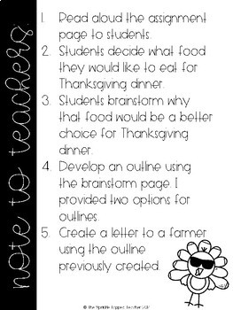 Thanksgiving Opinion Writing: Skip the Turkey!