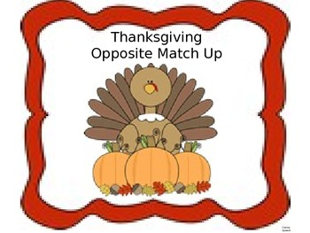 Thanksgiving Opposite Match Up