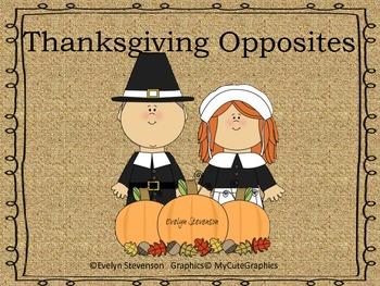 Thanksgiving Opposites