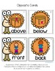 Thanksgiving Opposites in English and Spanish for K-1