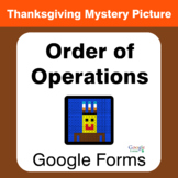 Thanksgiving: Order of Operations - Mystery Picture - Goog