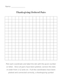Thanksgiving Ordered Pairs
