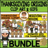 Thanksgiving Origins l Clip Art & GIF Bundle l TWMM