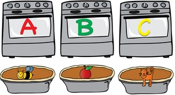 Thanksgiving Oven and Apple Pie Beginning Sounds Smartboard