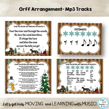 """Orff Thanksgiving Song: """"Over the River and Through the Woods"""" Lesson and Music"""