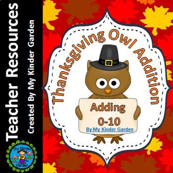 Thanksgiving Owl Addition Adding 0-10