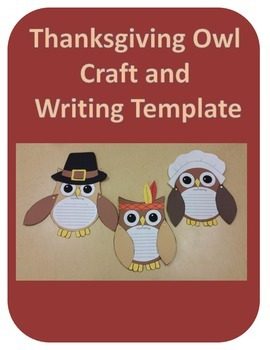 Thanksgiving Owl Craft and Writing Template