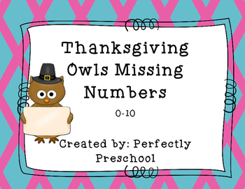Thanksgiving Owl Missing Numbers 0-10