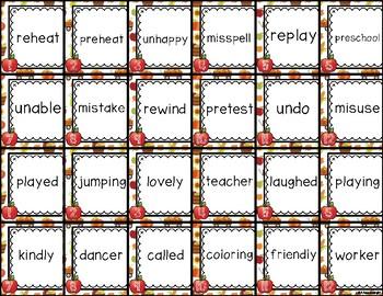 Harvest Prefix/Suffix Shake - & - Sort