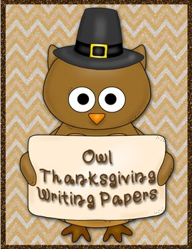 Thanksgiving Owl Writing Paper
