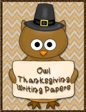Thanksgiving Owl Writing Paper