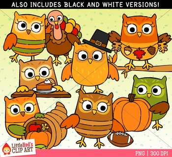 Thanksgiving Owls Clipart
