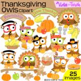 Thanksgiving Owls Clipart Clip Art Fall Clipart Pumpkin