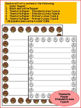 Thanksgiving Owls - Craftivity Set - Editable
