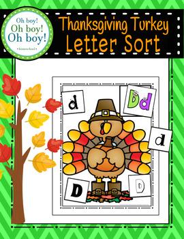 Thanksgiving Turkey Letter Sort - S