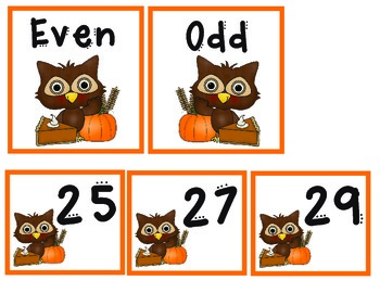 Thanksgiving Owl Math Centers