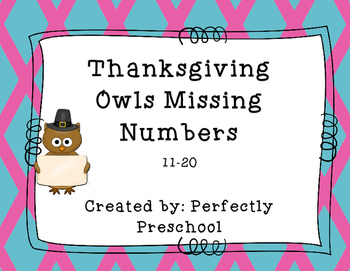 Thanksgiving Owls Missing Numbers 11-20