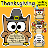 Thanksgiving Writing Owl Theme Bulletin Board: Thanksgiving Activities