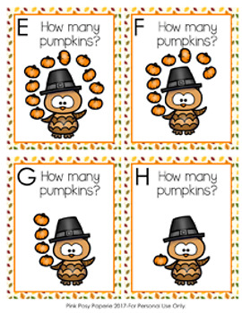 Thanksgiving Owls with Pumpkins Count The Room