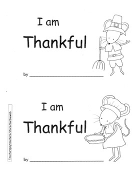 Thanksgiving Kindergarten PACK ELA Math Printable Book Addition Numbers etc.