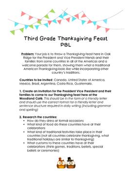 Thanksgiving PBL