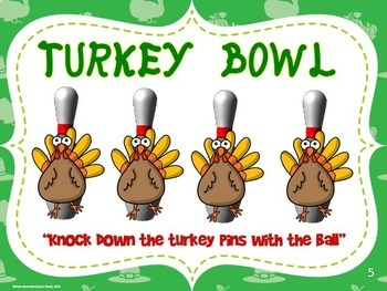 "Thanksgiving PE Movement Stations- 20 ""Gobbling Good"" Activity Cards"