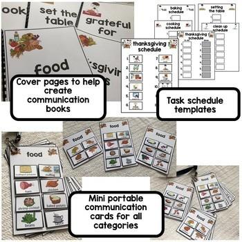 Thanksgiving PECS communication binder. 700+ visual icons. Editable.