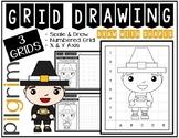 Thanksgiving PILGRIM (Draw with Shapes) Grid Drawing - NO PREP