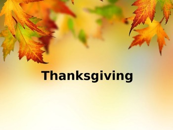 Thanksgiving PP for younger students