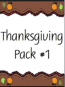 Thanksgiving Pack #1